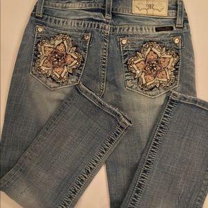 """NWOT Miss Me sz25x 24.5""""L distressed Capri jeans"""